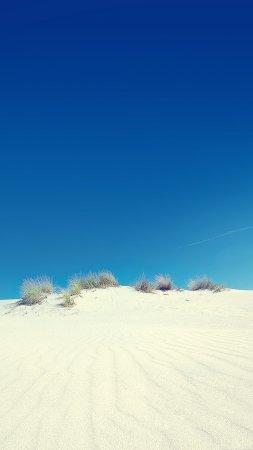 Desert Sand Dune Clear Blue Sky