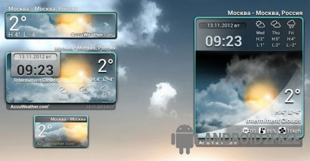 Виджет Погода и Часы - Android
